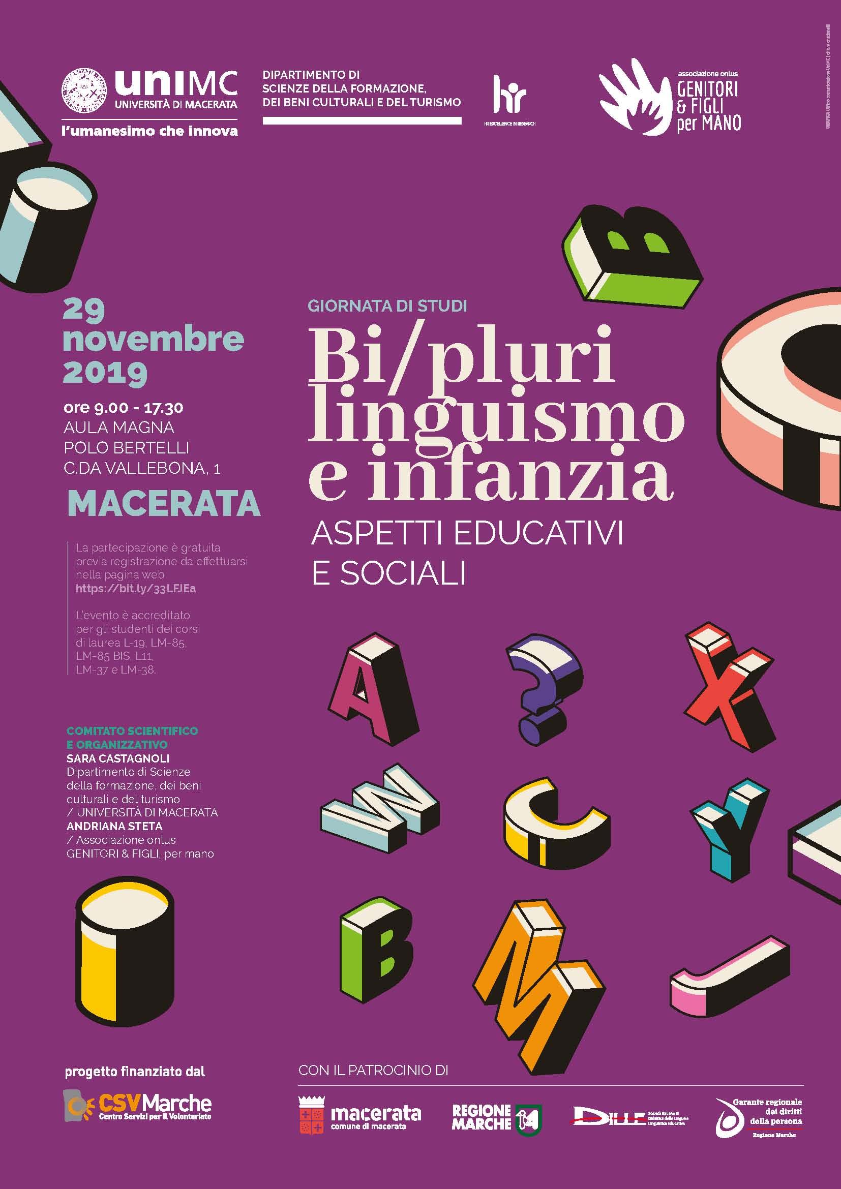 """Giornata di studi """"Bi-/Plurilinguismo e infanzia: aspetti educativi e sociali"""""""