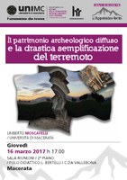Il patrimonio archeologico diffuso e la drastica semplificazione del terremoto