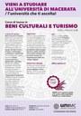 Manifesto Corso Interclasse «Beni culturali e turismo»