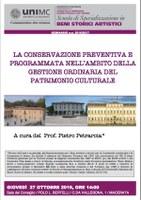 Seminario a cura del Prof. Pietro Petraroia