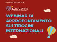 Webinar di approfondimento sui tirocini internazionali a.a. 2021/2022